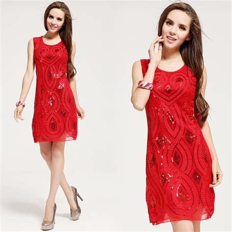 new 2016 paillette embroidery women summer dress festive