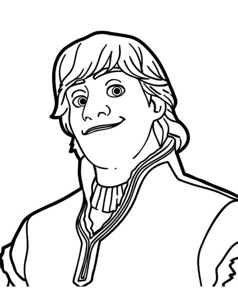 frozen coloring pages kristoff kristoff frozen portrait coloring page free frozen