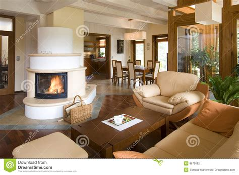 stylish rooms stylish modern living room with fireplace stock photo