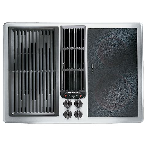 Jenn Air Cooktop With Grill Designer Line Modular Electric Downdraft Cooktop 30