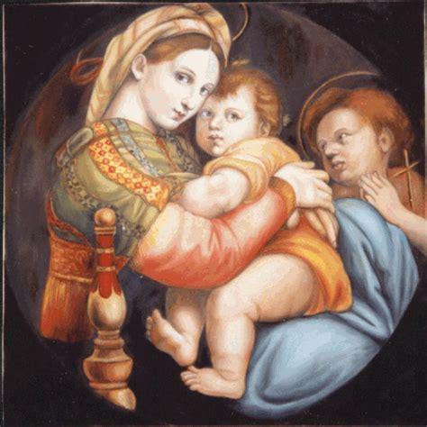 cornice tondo doni madonna della seggiola di raffaello sanzio dipinti falsi