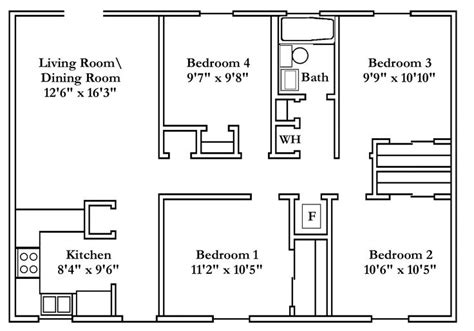 small 4 bedroom house plans small 4 bedroom house plans free typical floor plans