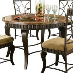 Marble Top Kitchen Tables Steve Silver Hamlyn Dining Table With Marble Top And Metal Base Traditional Dining
