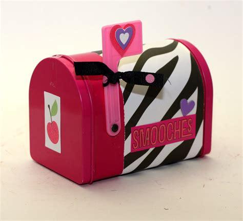 valentines day mailbox s day mailbox mail box pink with zebra print