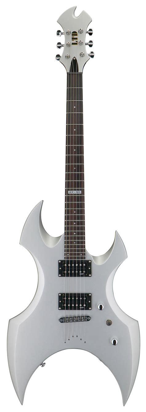 Esp Gitar Elektrik Ltd Ax 50 Putih esp ltd ax 50 ax series electric guitar silver satin