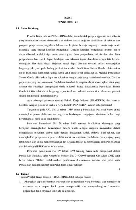 contoh laporan pkl smk
