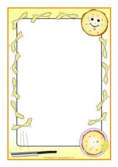 pancake themed a4 page borders (sb4247) sparklebox