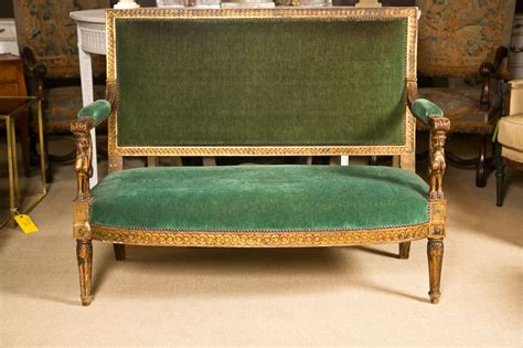 egyptian sofa 19th c egyptian revival gilt sofa at 1stdibs