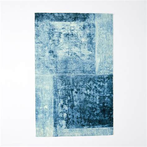 distressed rug distressed rococo wool rug blue lagoon west elm