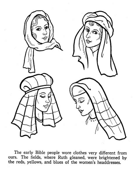 i love vbs as a color sheet time filler before assembly bible life and times coloring pages women s headdress