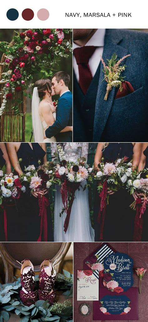 wedding colors for fall 10 fall wedding color ideas you ll for 2017 navy