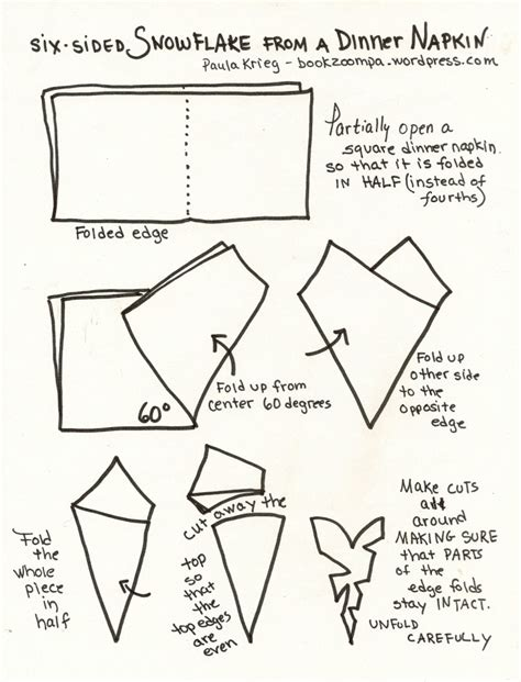 To Make A Paper Snowflake - paper folding squares and equilateral triangles playful