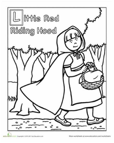 preschool red coloring pages red riding hood coloring page red riding hood