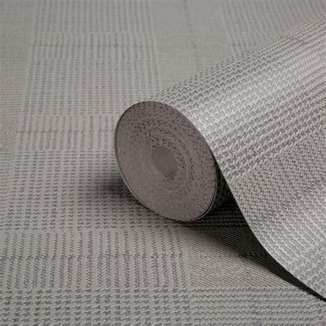 b q grey wallpaper graham brown superfresco easy grey check textured