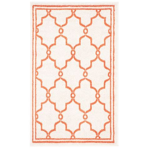 3 X 5 Indoor Outdoor Rugs Safavieh Amherst Beige Orange 3 Ft X 5 Ft Indoor Outdoor Area Rug Amt414f 3 The Home Depot