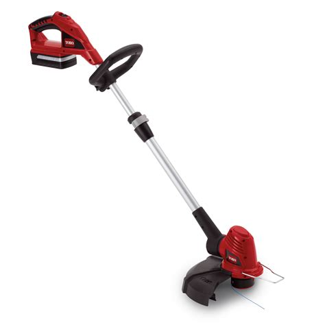 this cordless string trimmer leaves weeds shaking in their