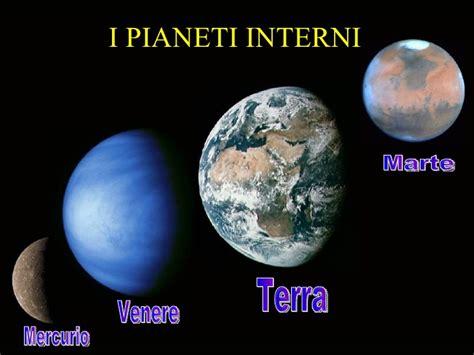 pianeti interni ed esterni il sistema solare semplificato