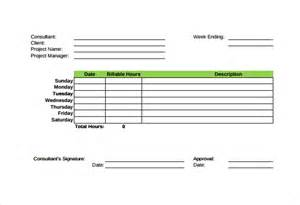 consultant time tracking template 12 consultant timesheet templates free sle exle