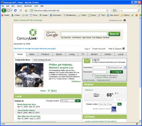 www centurylink home page home review
