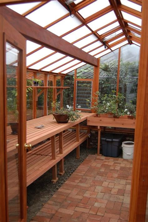 interior    garden deluxe greenhouse roof