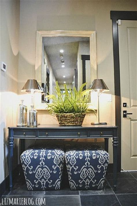 Entryway Table With Stools Underneath Beautiful Entry Ways And Ottomans On