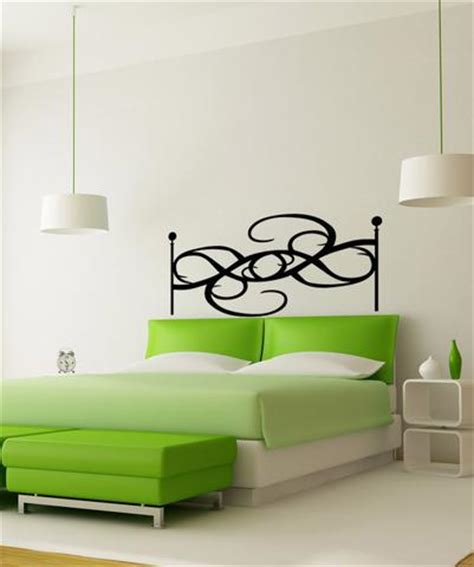 wall decal headboards vinyl wall decal sticker swirly headboard os aa1157