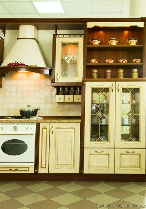 Two Color Kitchen Cabinet Ideas Pictures Of Kitchens Traditional Whitewashed Cabinets