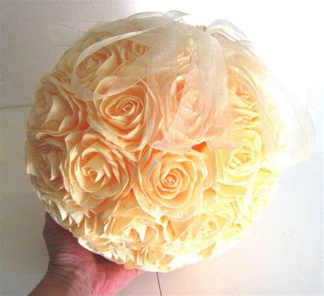 How To Make Paper Flower Balls For Wedding - great crepe paper flower ivory wedding hanging