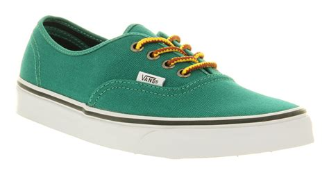 Vans Authentic Green vans authentic verdant green canvas trainers shoes ebay