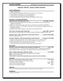 Sle High School Resume For College Application by Secondary Science Resume Sales Lewesmr