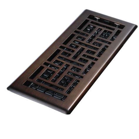 decor grates 4 in x 14 in steel brushed nickel floor register oriental design ajh414 nkl the