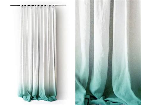 mint curtain panels white linen curtain panel ombr 232 mint fade to white pinch