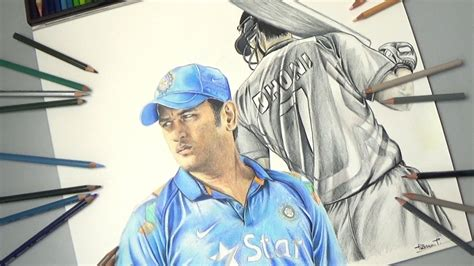 M S Dhoni Sketches by M S Dhoni Drawing M S Dhoni The Untold Story