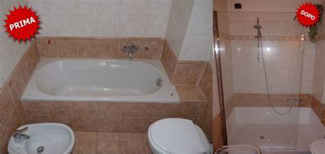 cambiare vasca in doccia trasformazione vasca in doccia senza opere murarie