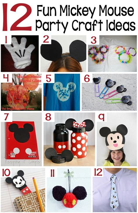 mickey mouse crafts for 70 mickey mouse diy birthday ideas about family