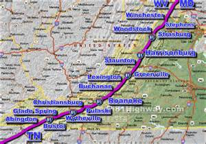 Route 81 Map by I 81 Virginia Traffic Map