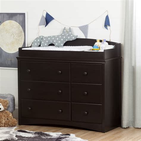 espresso baby dresser changing table south shore angel changing table dresser with 6 drawers
