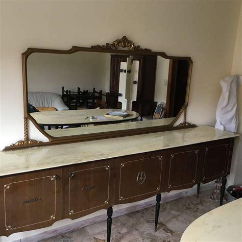 credenza sala credenza sala da pranzo con specchio in legno decorato era