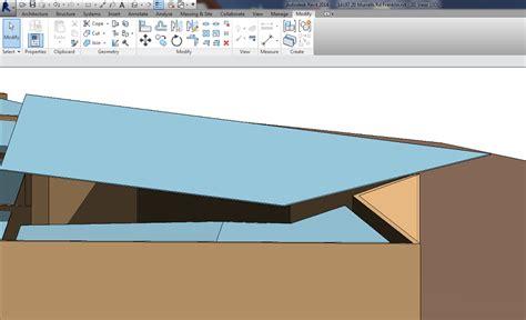 revit gutter tutorial how to model a gutter on a sloping roof edge revit