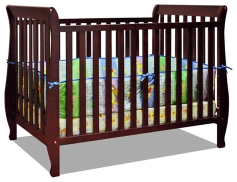 Baby Cribs And Cots by Baby Mile 4 In 1 Convertible Crib In Cherry