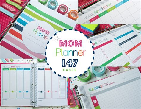 printable planner pages for moms clean life and home the mom planner printable home