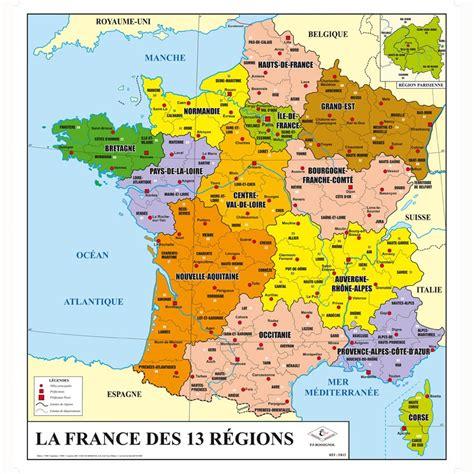 la carte et le 2081365456 carte de la france g 233 ographique 13 r 233 gions