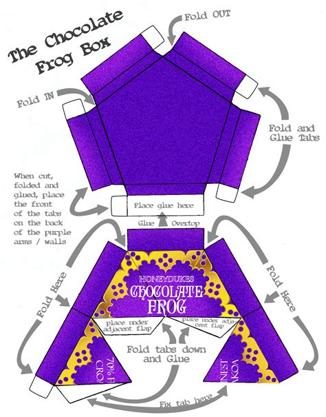 chocolate frog box template printable free honeydukes labels the swish family robertson