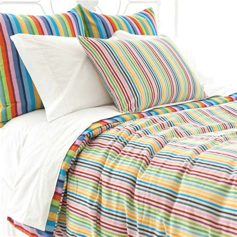 rainbow bedding rainbow stripe duvet cover by pine cone hill