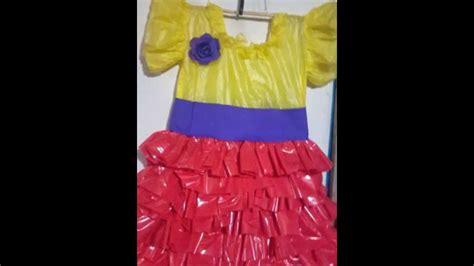 como hacer vestidos con reciclaje como hacer un vestido reciclable youtube