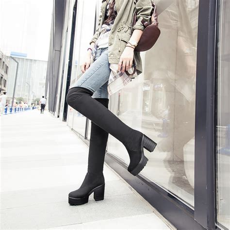 cheap knee high heel boots cheap the knee high heel boots yu boots