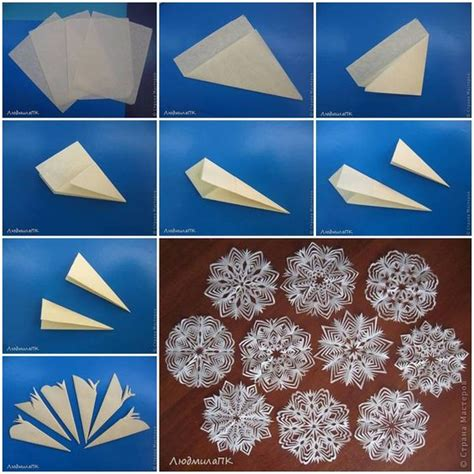 do it yourself pattern making how to make paper snowflake method step by step diy