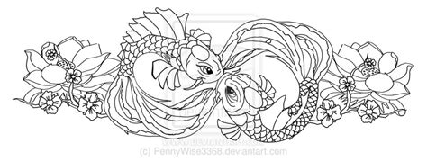 Two Koi Fish Outline by Koi Fish Outline Car Interior Design
