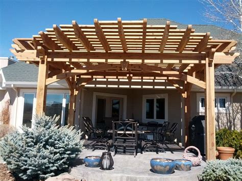 More Shade Plan Diy Solid Cedar Wood Cantilevered Pergola Diy Pergola Roof
