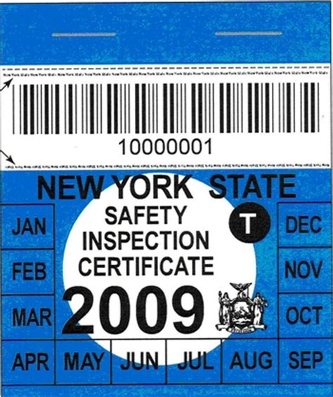 New York State Inspection Sticker